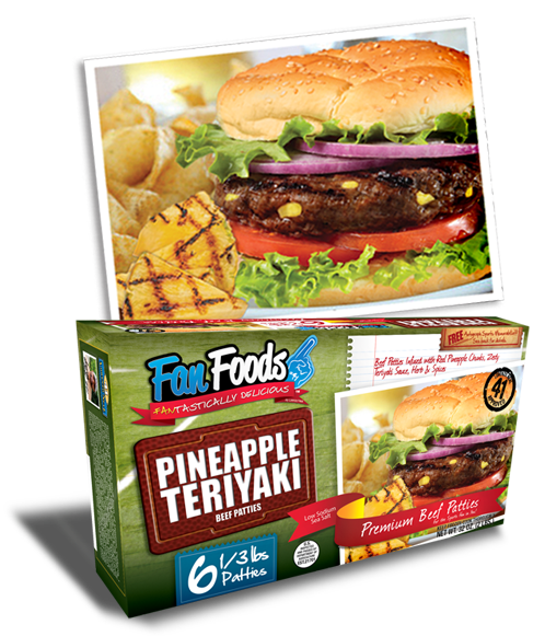 Pineapple Teriyaki Beef Patties
